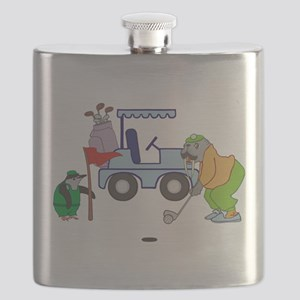 Playing Golf Flask